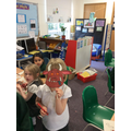 We coloured and cut 'Gruffalo' masks
