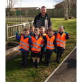Deer Class - weeding the garden area 12/4/16