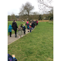 The whole of Year One went on a walk