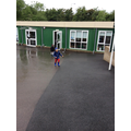 ...it's pouring, were outdoor learning!