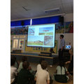 Mr Turner came to talk to us about his job