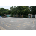 Main playground with the trim trail