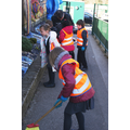 Fox Class - cleaning our entrance path 22/3/16