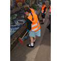 Robin Class - cleaning our entrance path 6/5/16