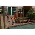 Squirrel Class - sweeping near the sandpit 17/5/16