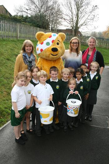 Our School Council with Pudsey Bear