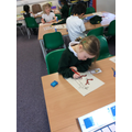 We coloured 'stick man' body parts