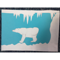 Cut paper polar bear by Martha (P4)