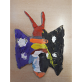 Clay butterfly by Charlie (P3)
