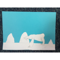 Cut paper polar bear by Sophia (P4)
