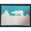 Cut paper polar bear by Lily (P4)