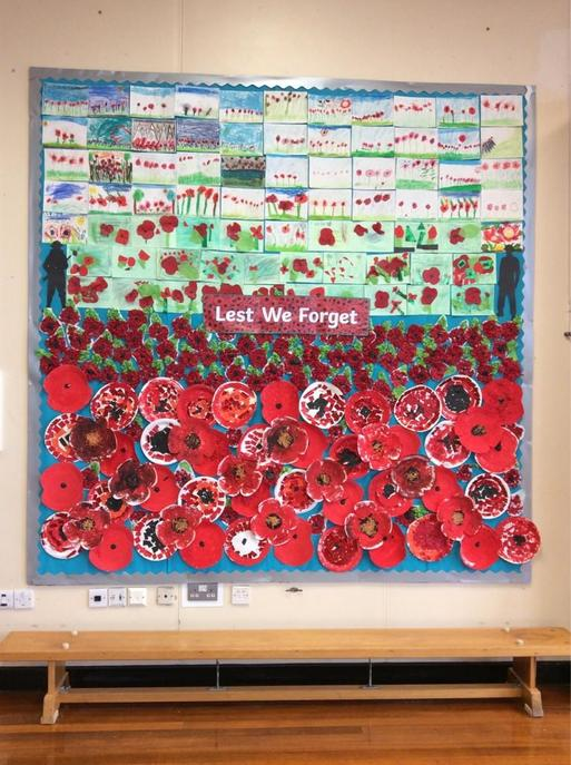 Our Remembrance Day Display in the School Hall