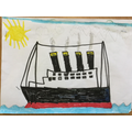 WOW look at this drawing of the Titanic.