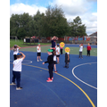 Year 1 PE with Mr Ennals developing key sporting listening skills