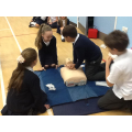 The BHF visited and taught us how to give CPR.