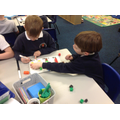 We celebrated World Maths Days by using cubes to help them represent a block diagram
