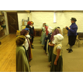 We enjoyed dressing up in Tudor clothes.