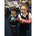 We made Divah Lamps out of playdough!