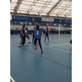 Netball team in action at the Devon Winter Games