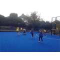 In PE we have been learning to play Hockey.
