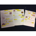 We made reports about looking after pets!