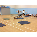 In PE we have been doing gymnastics.