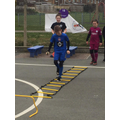 Year 6 leading Year 5 PE for Sport Relief
