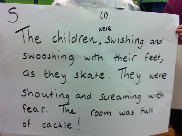 Class 2 Parent Share Writing using