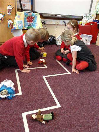We have been doing some coding with the Beebots