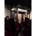 Street setting in museum : Kristallnacht