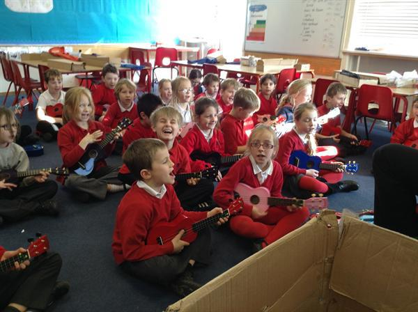 Ukulele's have come to class 4!!