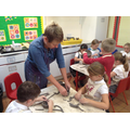 Year 3 making replicas of Ancient Greek clay pots