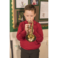 Jacob in learning to play the cornet