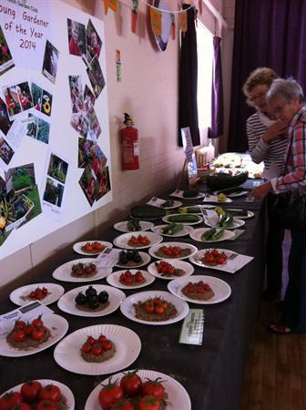 Orston Produce Show and Entries for Young Gardener