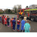 Visit from our local firefighters on heroes day