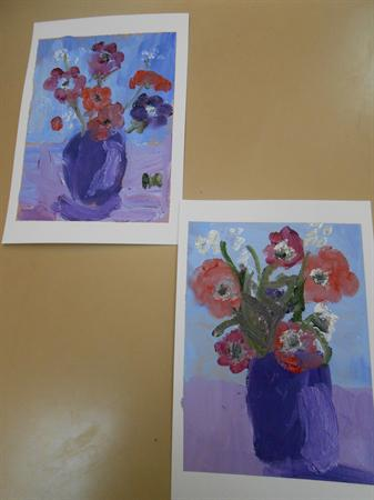Y3 Oil paintings from Patchings Farm Art day