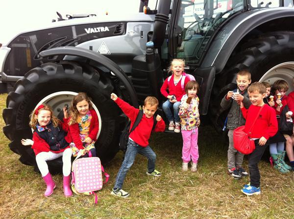 Visiting the local agricultural show