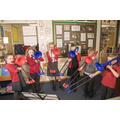 Weekly whole class instrument tuition across KS2
