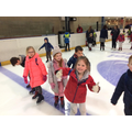 Year 1 ice skating gaining confidence
