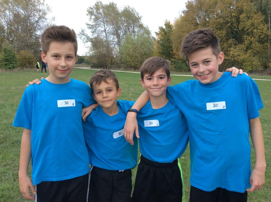 Our boys x country relay team at Rushcliffe Park