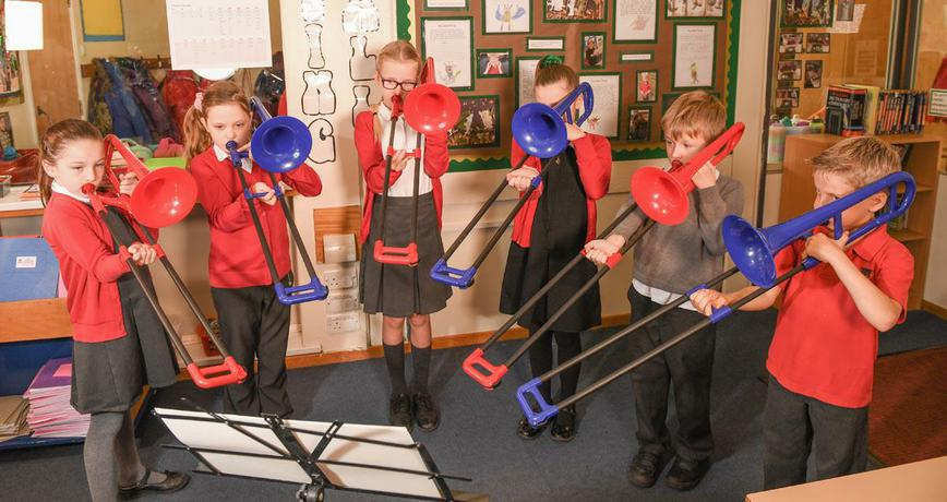 Our whole class music lessons are just wonderful!