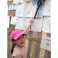 Ellie-May receives a rosette for her handwriting