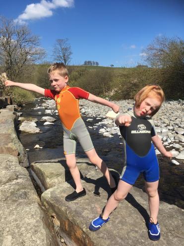 Strike a pose!  Super balancing.