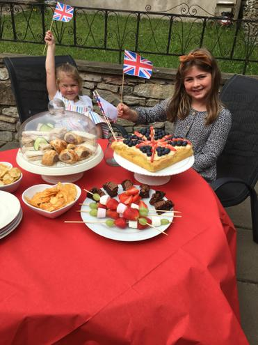 VE Day Celebration Tea, what a spread!