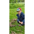 Building a den for hedgehogs