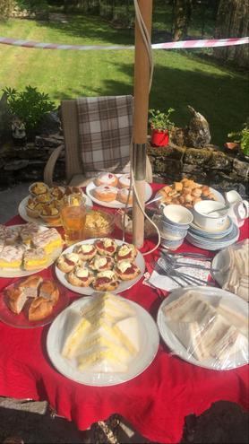 VE Day special tea in the garden