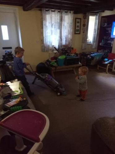 Technology at home...vacuuming