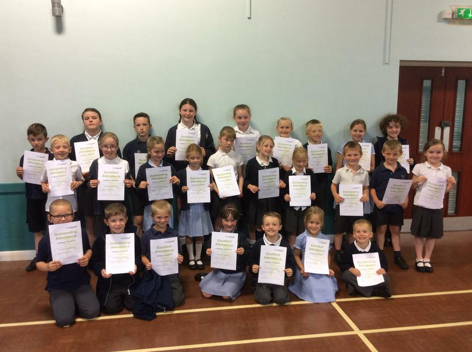 Celebrating 100% & 99% attendance this year!