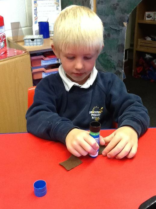 We tried different ways of attaching fabric.