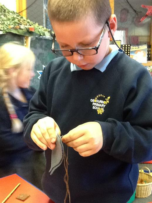 Sewing was very tricky!